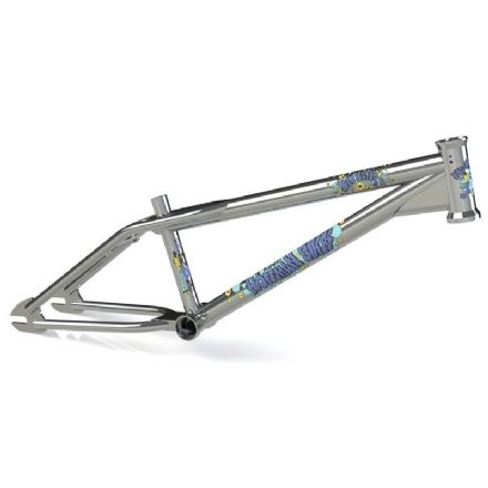 Hoffman Big Daddy Frame with Blue Decals - Chrome - 20.5""